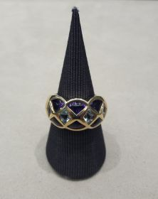 Ring Amethyst & Topase in Rautenform